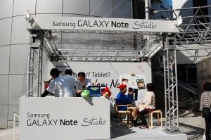 GalaxyNoteStudioの似顔絵コーナー