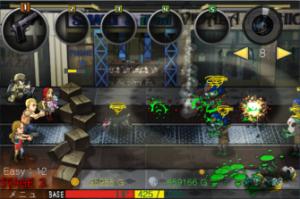 「[撃って] ゾンビストリート」ゲーム画面