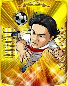 岡崎選手のカード画像。