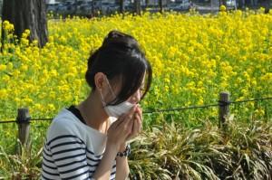 花粉とマスク