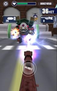 時にはロケットランチャーを撃ってくる巨大なロボットも..