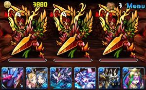 「炎の魔剣士」はスキル「ドロップ変化・火」で 水ドロップを全て火ドロップに変化させることができる 便利なスキルを持ったモンスター。