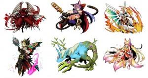 登場するシキガミは、妖怪、九十九神、妖精、幻獣、総勢400種類以上。
