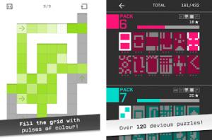 高クオリティのパネルを塗りつぶすパズルゲーム。
