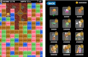 タップ操作のみでブロックを消してキャラを移動させるパズルゲーム。