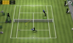 棒人間のシンプルなテニス。