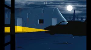 この車のライトの表現は必見!!