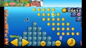 泳いでコイン