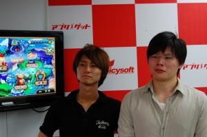 あらためて紹介しよう。みくりと運営チームのシュバイン(右)ときりちゃん(左)だ!