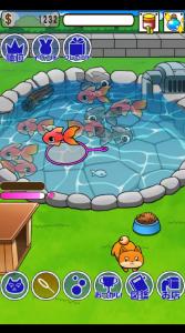 金魚の育成ゲームは初めてみた!