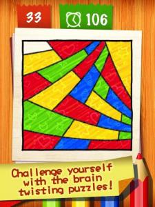 かぶらないように色を配色するパズルゲーム