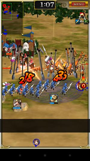 大量に押し寄せる敵も奥義で一網打尽に!