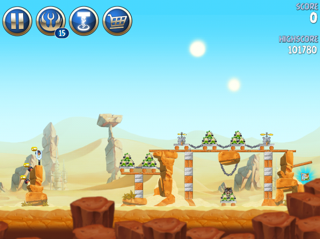 Angry Birds Star Wars II(アングリーバードスターウォーズ2)攻略画像ESCAPE TO TATOOINE B-2-10攻略