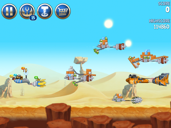 Angry Birds Star Wars II(アングリーバードスターウォーズ2)攻略画像ESCAPE TO TATOOINE B-2-20攻略