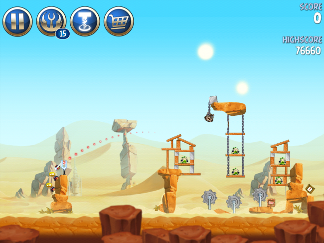 Angry Birds Star Wars II(アングリーバードスターウォーズ2)攻略画像ESCAPE TO TATOOINE B-2-7攻略
