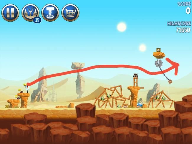 Angry Birds Star Wars II(アングリーバードスターウォーズ2)攻略画像ESCAPE TO TATOOINE B-2-9攻略
