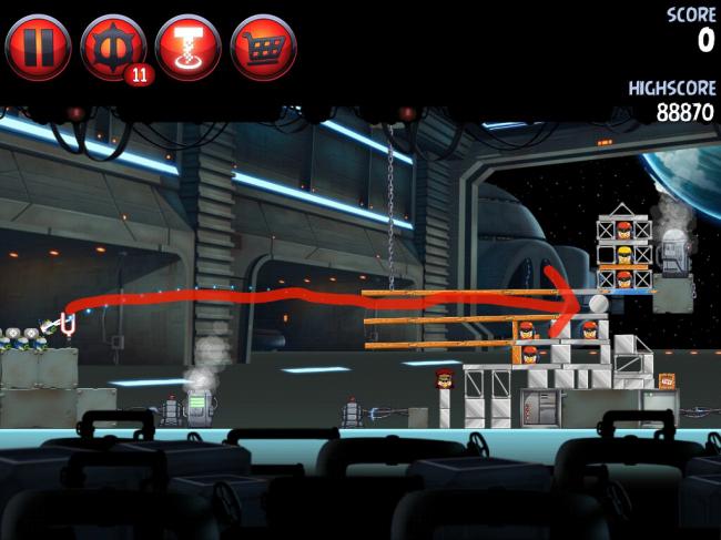 Angry Birds Star Wars II(アングリーバードスターウォーズ2)攻略画像Naboo Invasion P-1-5攻略