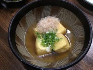 揚げ出汁豆腐 420円。
