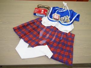 実際に使われた衣装。こうしてみると布の少なさがわかる