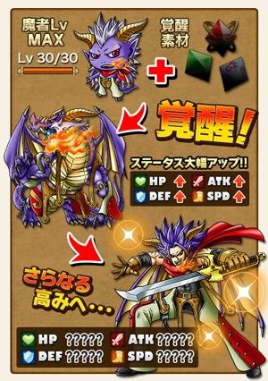 魔者は一定条件で「ちび」→「魔獣」→「魔人」と「覚醒」