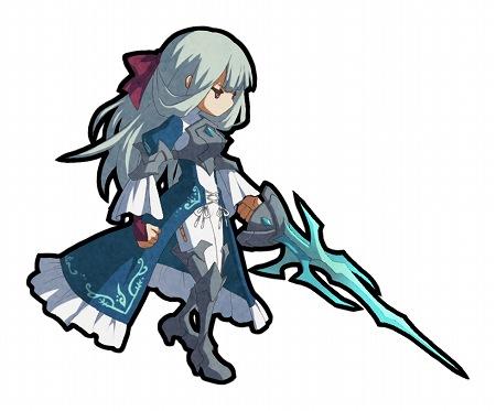 リボンが愛らしい水属性・剣ユニット。法衣のような衣装とこの剣は!?