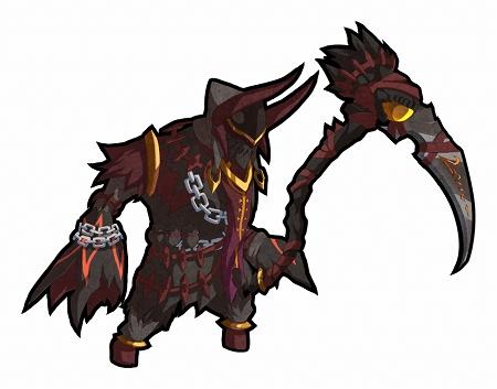 火属性・剣ユニット。大鎌のような武器を持った亜人のよう。