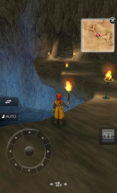 最初のダンジョンなので探索はしやすい。|ドラゴンクエスト8 スマホリメイク版 攻略 ココだけは押さえたい3つのポイント~滝の洞窟