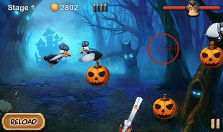 かぼちゃを狙うアヒルを撃ち落とせ!