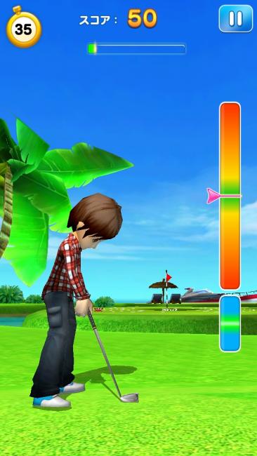 LINE初の3Dゴルフゲーム。
