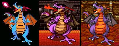 ドラクエ1 左からFC版、SFC版、スマホ版の「りゅうおう」です。