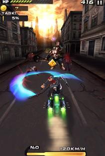 バイクで走ってゾンビをなぎ倒せ!