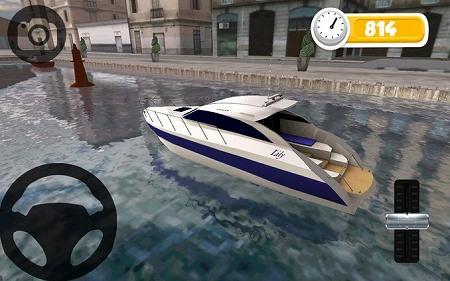 ボートを上手く駐車させて!
