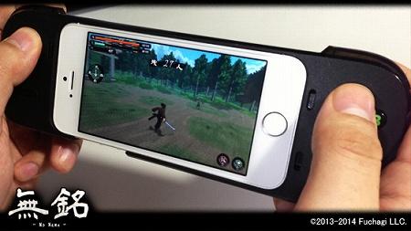 iPhone向けゲームパッド利用イメージ