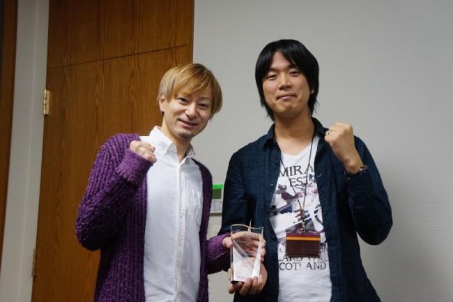 新小田プロデューサー(左)と松永ディレクター(右)