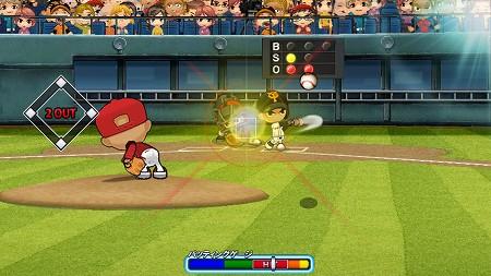 簡単な操作性でありながら、アクション要素の高い野球ゲーム!