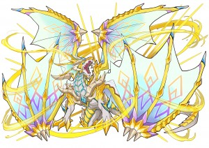【アプリ★ゲット限定公開!】光翼竜ゲオルギウス(ラフ画)