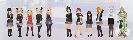 学生服姿の少女たち