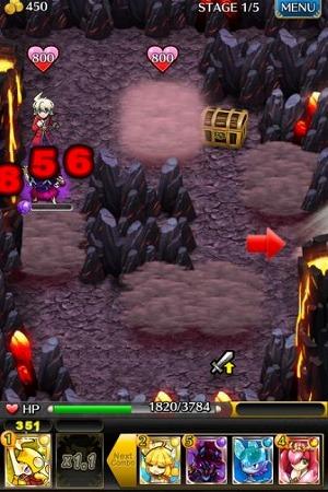 ダンジョンにたちこめる「マナの霧」をタップして力を集め ると、味方が攻撃状態になり、 コンボ攻撃さく裂!