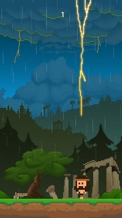 一瞬のタイミングを見計らい雷を避けろ!