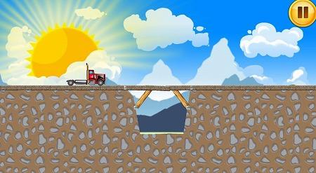 鉄筋や材木を組み合わせて橋を建設!