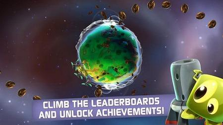 惑星をぐるぐる回して、隕石から生物を守れ!