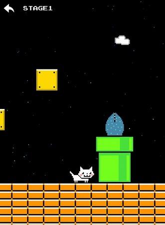 マリオ風にゃんこの難易度高めなアクションゲーム!