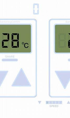 次々と流れてくるエアコンのリモコンの設定温度を28℃にしよう!