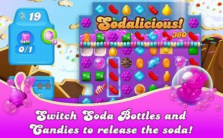 『Candy Crush Soda Saga』プレイ画面