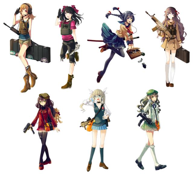 新たに追加された7名のキャラクター。