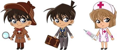 ▲SRキャラクターにはコナン(聡明なホームズ)に加え、工藤新一(高貴な執事服)と灰原哀(ピンクのナース服)が加わった。