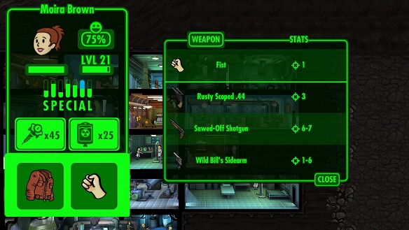 使用可能な武器のリストが右に表示されるので、装備させたいものをさらにタップすることで装備完了