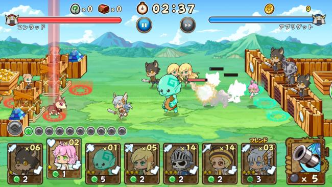 基本的にモンスターは配置されたラインで攻撃を行っていく。