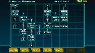 VisualProgram(ロボット思考作成)。
