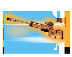 スナイパーライフル用金合金エキゾフレーム